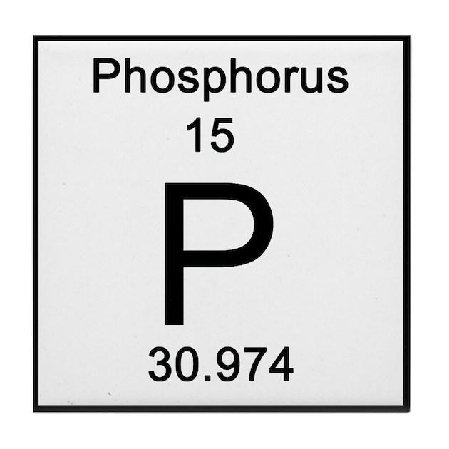 Periodic Table Phosphorus Tile Coaster By Sciencelady