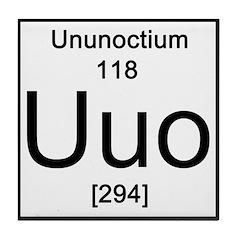 Periodic Table Ununoctium Tile Coaster