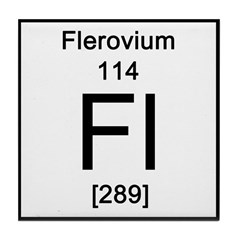 Periodic Table Flerovium Tile Coaster