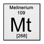 Periodic Table Meitnerium Tile Coaster