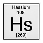 Periodic Table Hassium Tile Coaster