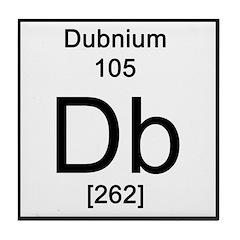 Periodic Table Dubnium Tile Coaster