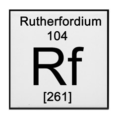 Periodic Table Rutherfordium Tile Coaster