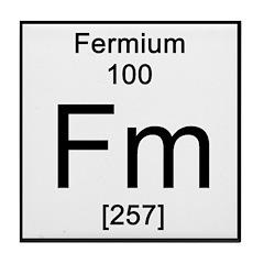 Periodic Table Fermium Tile Coaster