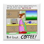 Tile Coaster Coffee Rejoicing