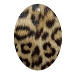 Leopard Print Ornament (Oval)