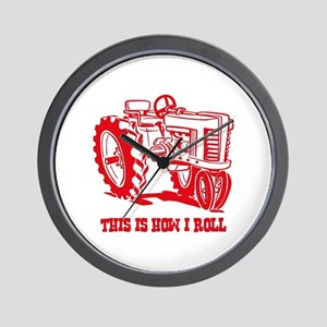 This Is How I Roll Tractor RED Wall Clock