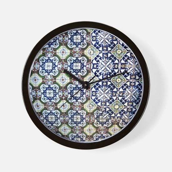 Mexican Tile Design Wall Clock