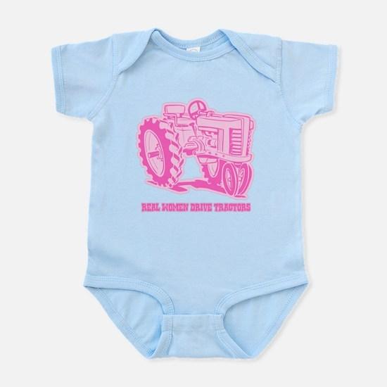 Real Women Drive Tractors Infant Bodysuit