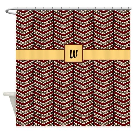 Leopard Print Chevron Shower Curtain