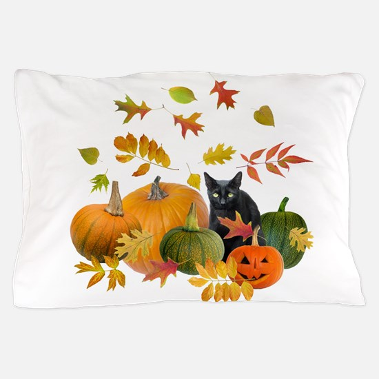 Black Cat Pumpkins Pillow Case