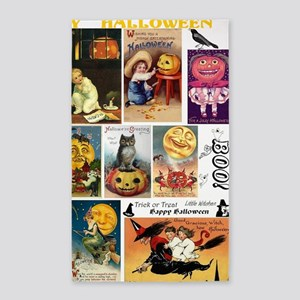 Halloween Vintage Greeting Card Col 3'x5' Area Rug