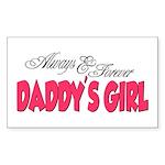 Always & Forever Daddy's Girl Sticker (Rectangular