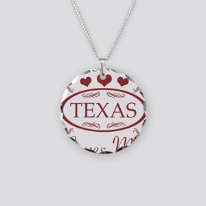 Somebody In Texas Loves Me Necklace Circle Charm