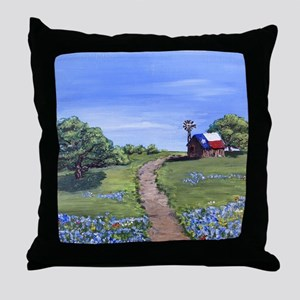 Texas Trail Throw Pillow