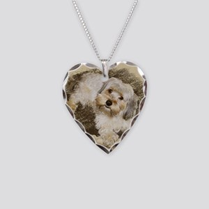 Morkie Necklace Heart Charm