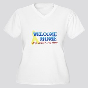 Welcome Home- My Soldier My H Women's Plus Size V-