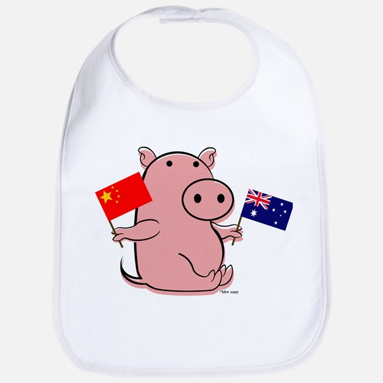 AUSTRALIA AND CHINA Bib