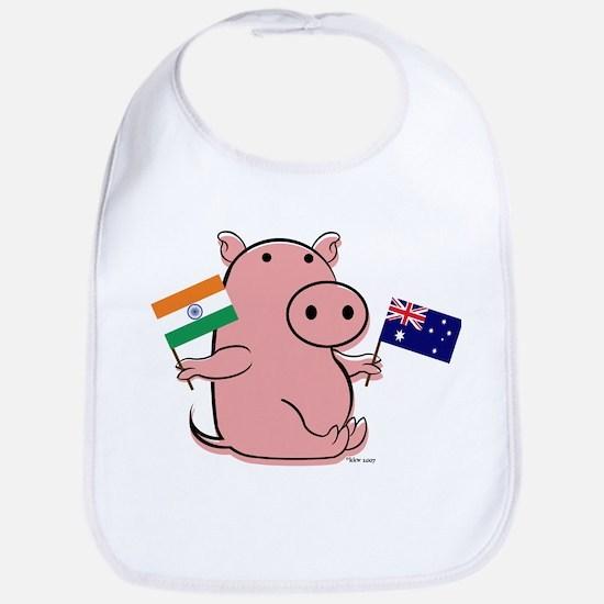 AUSTRALIA AND INDIA Bib