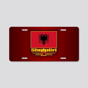 Albanian Flag Aluminum License Plate