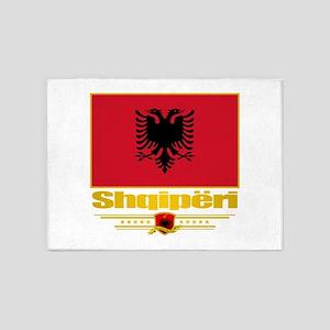 Albanian Flag 5'x7'Area Rug