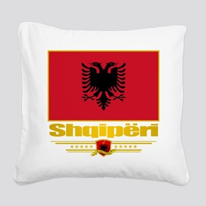 Albanian Flag Square Canvas Pillow