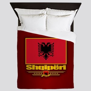 Albanian Flag Queen Duvet
