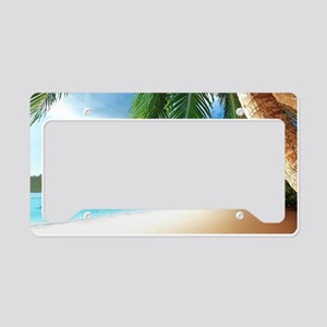Beautiful Beach License Plate Holder