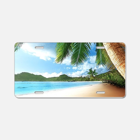 Beautiful Beach Aluminum License Plate