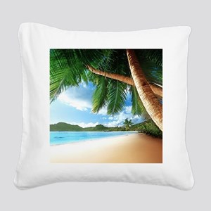 Beautiful Beach Square Canvas Pillow