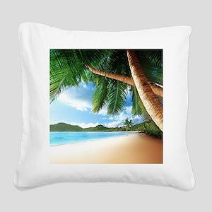 Beautiful Beach Square Canvas Pillow
