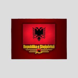 Republic of Albania 5'x7'Area Rug