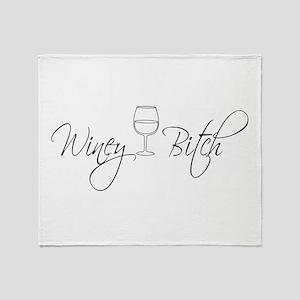 Winey Bitch Throw Blanket