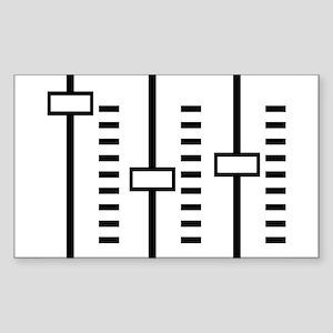 Audio Balance Control Rectangle Sticker