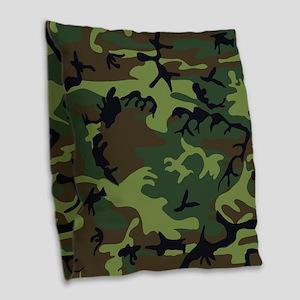 Combat Army Camouflage Burlap Throw Pillow