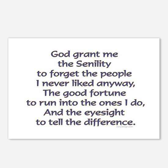 God grant me the Senility Postcards (Package of 8)