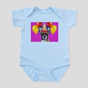 Birthday Boxer puppy Body Suit