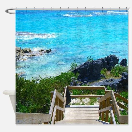 Church Bay Bermuda Tropical Beach Shower Curtain