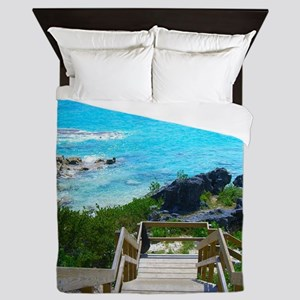 Church Bay Bermuda Tropical Beach Queen Duvet