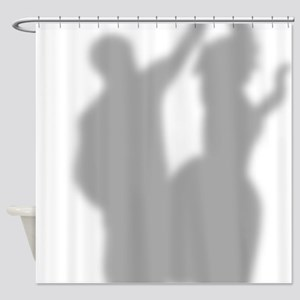 50s Dancing Couple Silhouette Showe Shower Curtain