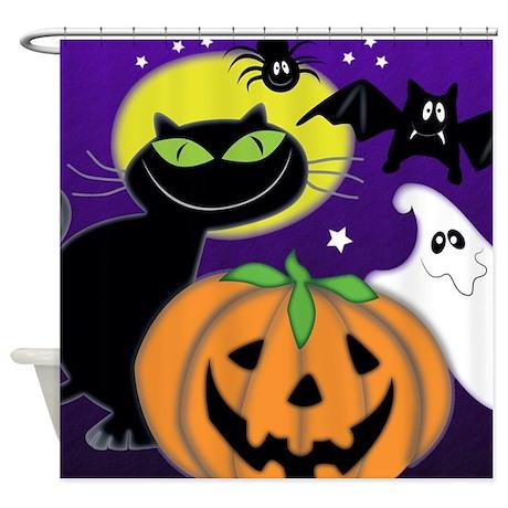Cute Halloween Scene Shower Curtain