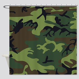 Combat Army Camouflage Shower Curtain
