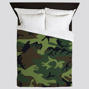 Combat Army Camouflage Queen Duvet