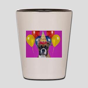 Birthday Boxer puppy Shot Glass