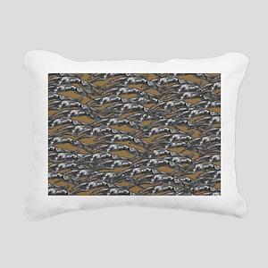 Leaping Hound Silver Bro Rectangular Canvas Pillow