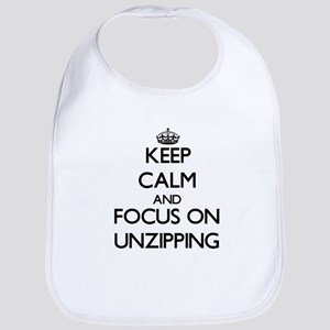 Keep Calm by focusing on Unzipping Bib