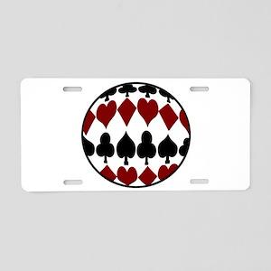 Circle Suits Aluminum License Plate
