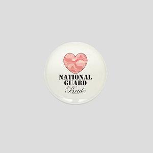 National Guard Bride Camo Heart Mini Button