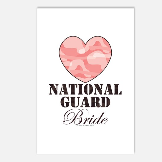National Guard Bride Camo Heart Postcards 8 pk