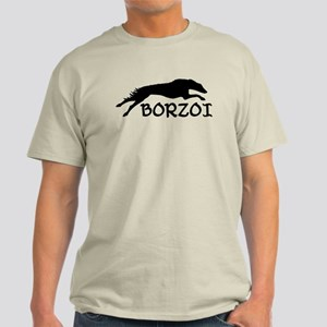 Running Borzoi w/Text Light T-Shirt